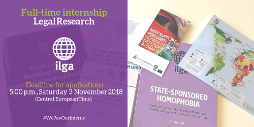 Full-time internship opportunity at ILGA on Legal Research