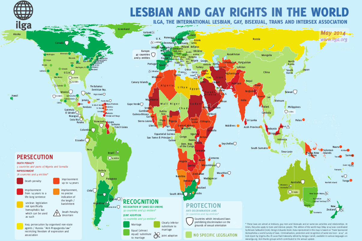 Current Map Of Africa Countries.Maps Sexual Orientation Laws Ilga