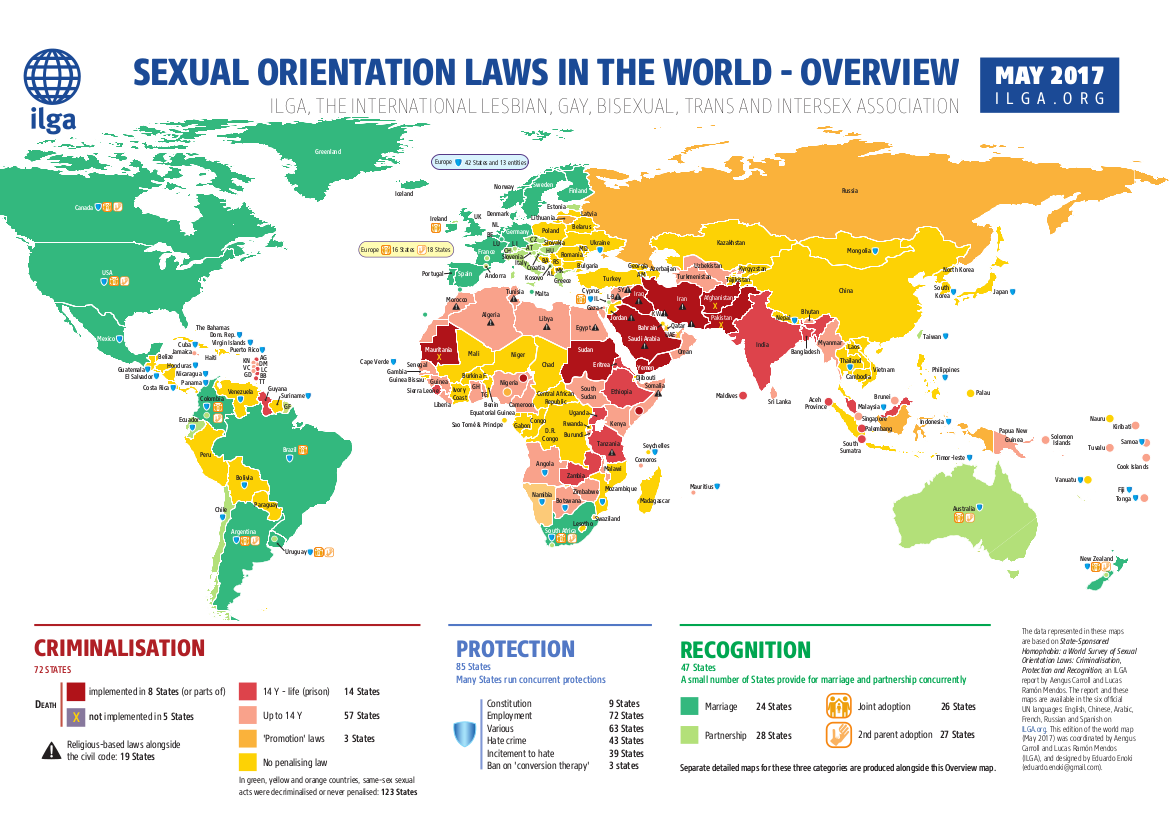 Maps Sexual orientation laws ILGA