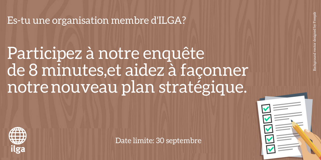 Enquete sur le plan strategique d'ILGA