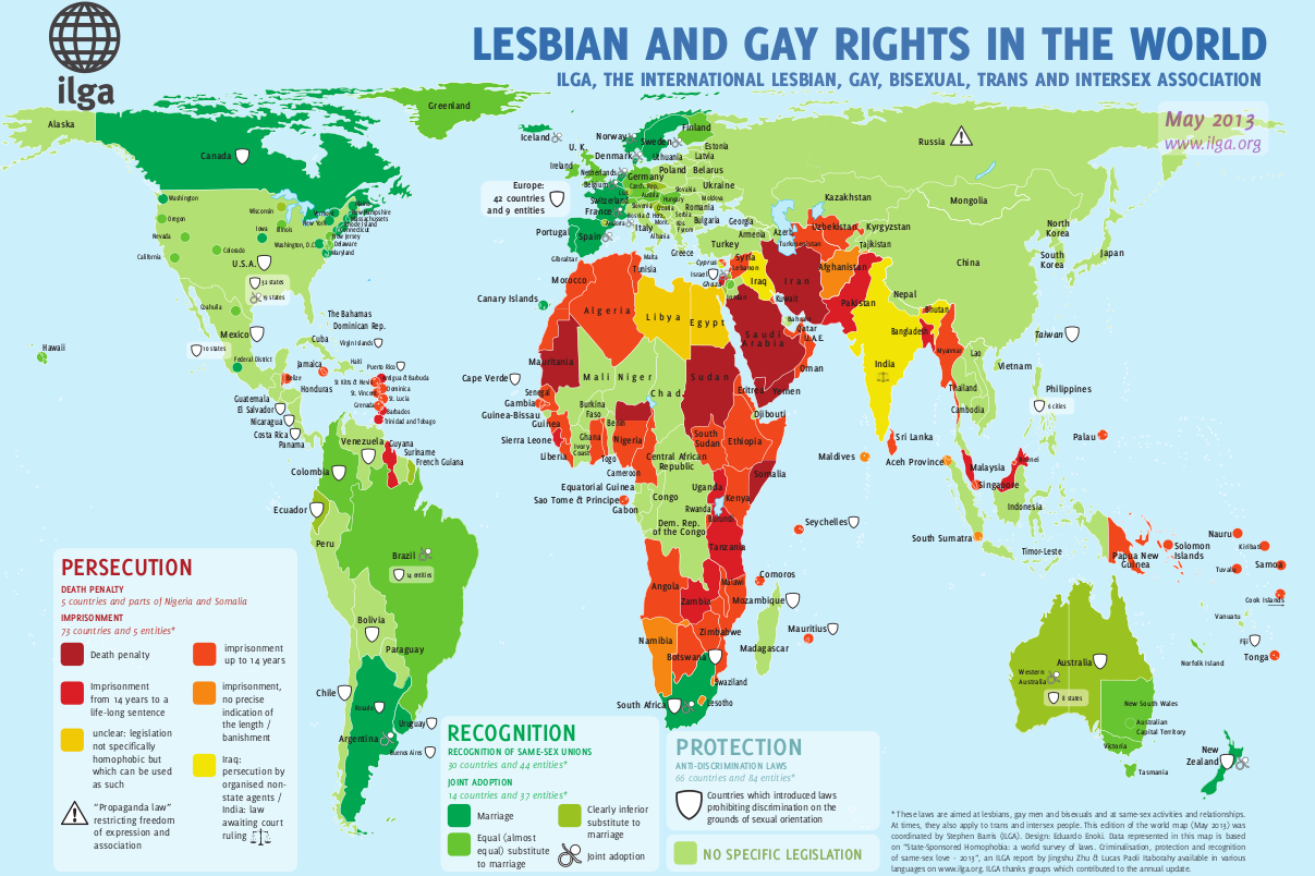overview map sexual orientation laws 2013