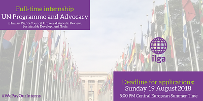 ILGA internship opportunity: UN Programme and Advocacy