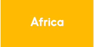 The image has a yellow background, and reads Africa in white colour