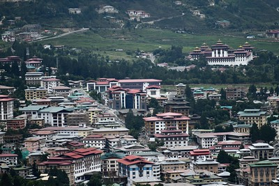View of central Thimphu