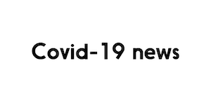 The image has a white background, and reads Covid-19 news in black colour