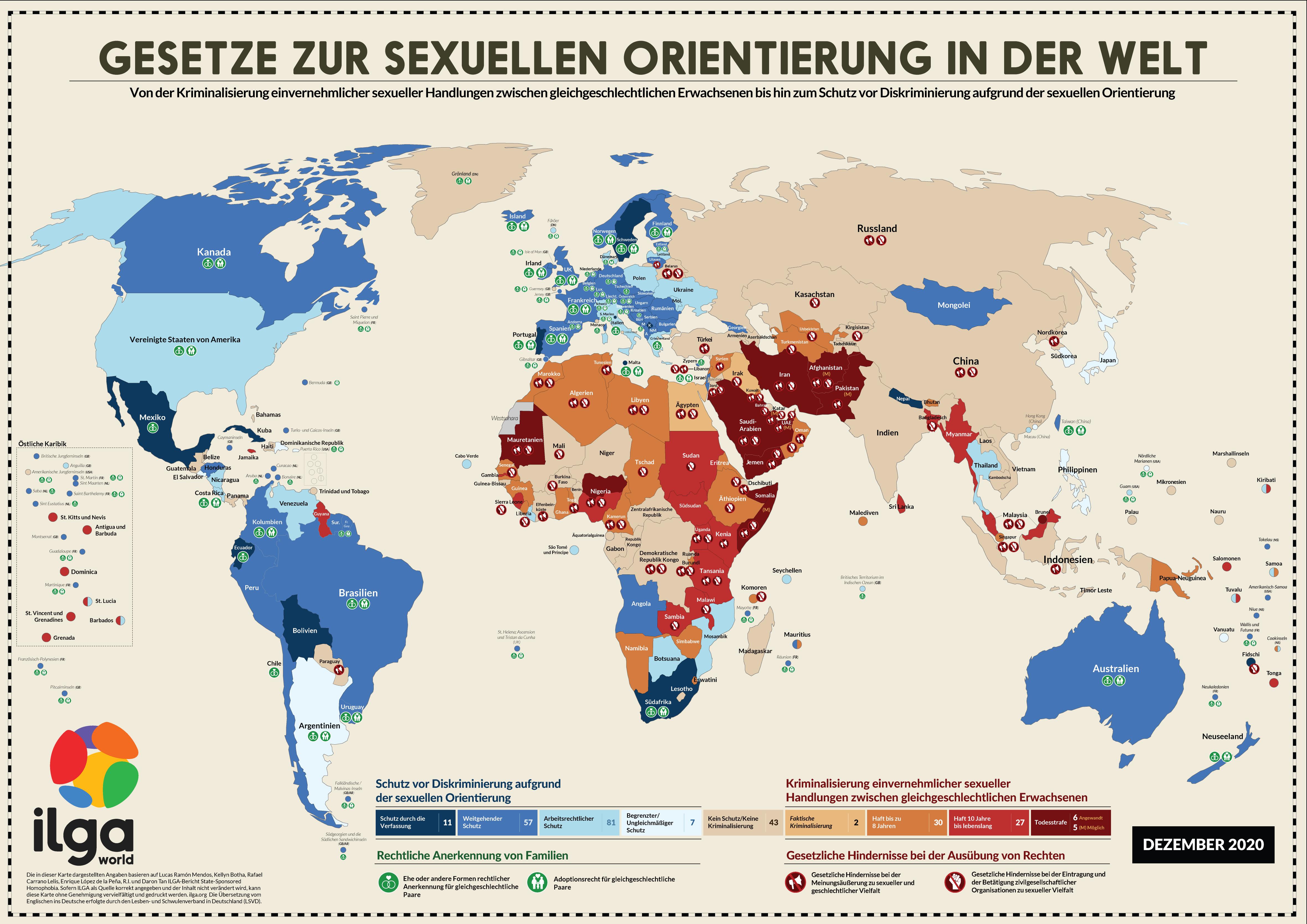 Die Weltkarte der Schande: So gefährlich leben LGBT