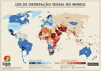 ILGA World's Map in Portuguese