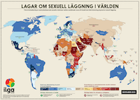 ILGA World's Map in Swedish